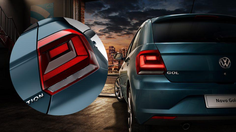 Gol - Lanternas traseiras com linhas acentuadas - Volkswagen